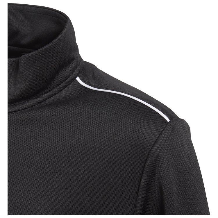 Bluza dziecięca adidas Core 18 Training czarna na zamek