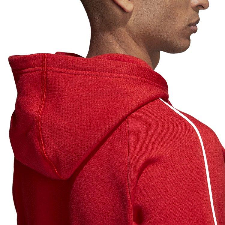 Bluza męska adidas Core 18 czerwona z kapturem sklep