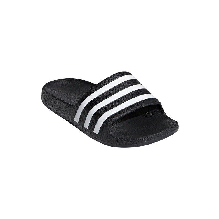 Klapki dziecięce adidas Adilette Aqua czarno białe pianka