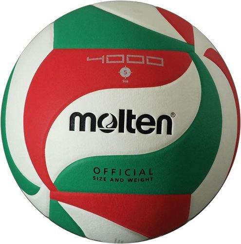 Piłka siatkowa MOLTEN V5-M4000 zielono-biało-czerwona rozmiar 5 FIVB  treningowa - sklep sportowy KajaSport